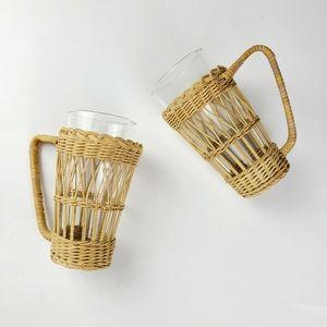 《Vintage》ratten/wicker cup holders